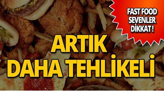 Dikkat! İşte fast food hakkında çarpıcı gerçek!
