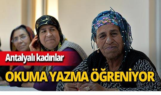 Muratpaşa'da kadınlara okuma yazma kursu