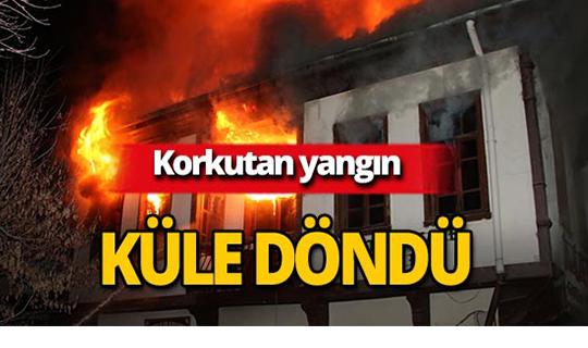 Tarihi çarşıda yangın!