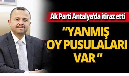 """AK Parti Antalya İl Başkanı Taş: """"Çöplerden çıkan oy pusulaları var"""""""