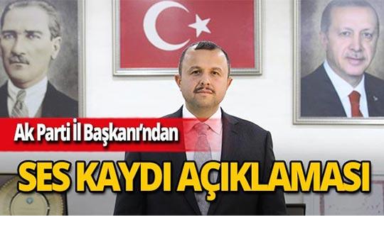 AK Parti Antalya İl Başkanı Taş'tan ses kasedi açıklaması