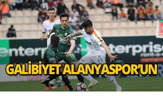 Alanyaspor Bursaspor'u mağlup etti