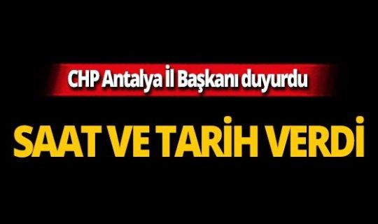 Antalya CHP'den kınama!
