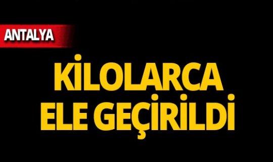 Antalya'da aramalarda ele geçirildi: Gözaltına alındılar!