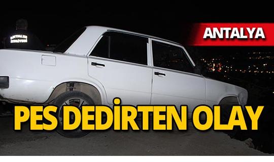 Antalya'da askıda kalan araçta uyuyakaldı!