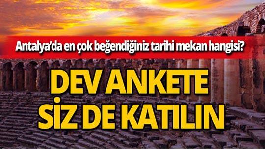 Antalya'da en çok beğendiğiniz tarihi mekan hangisidir?