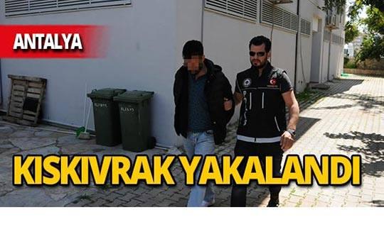 Antalya'da kargo şirketinden çıkarken yakalandı!