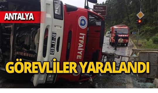 Antalya'da kazaya giderken kaza yaptılar!