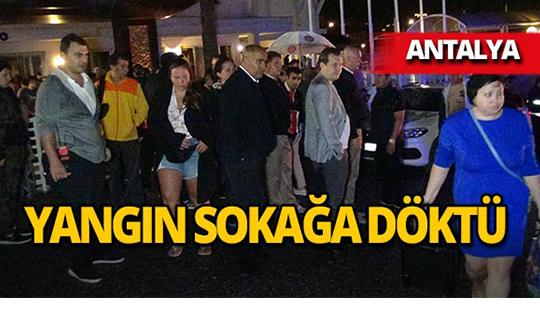 Antalya'da lüks otelde panik anları!