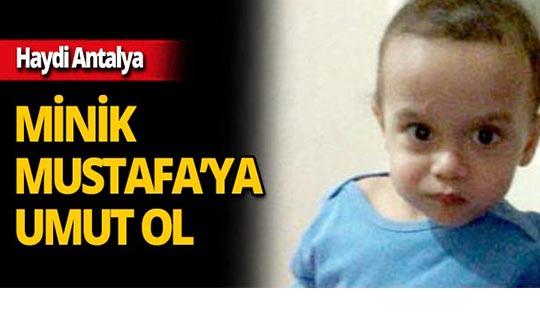Antalya'da Mustafa Seyfi bebek yardım bekliyor!