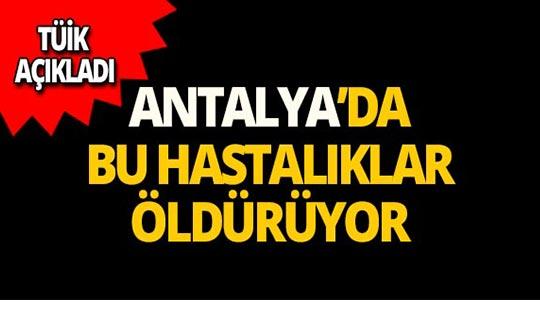 Antalya'da ölümlerin çoğu bu hastalıklardan!
