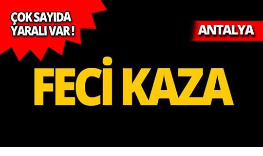Antalya'da otomobile çarparak kaldırıma çıktı! Yaralılar var