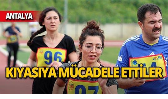 Antalya'da postacılar milli takım için yarıştı!