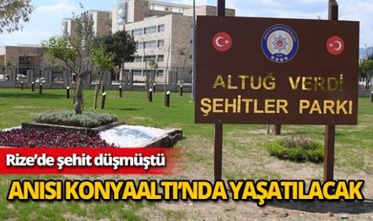 Antalya'da şehidin anısına park