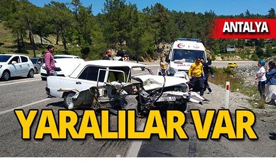 Antalya'da kafa kafaya çarpıştılar: Yaralılar var!