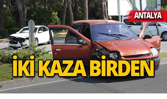 Antalya'da kaza üstüne kaza: Yaralılar var!