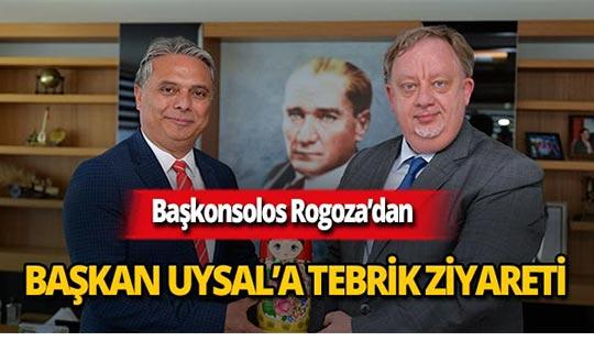 Başkonsolos Rogoza'dan Başkan Uysal'a tebrik ziyareti