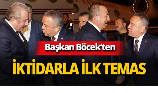 CHP'li Başkan Böcek'ten iktidar ile ilk temas