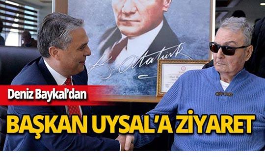 Deniz Baykal'dan Başkan Uysal'a tebrik ziyareti