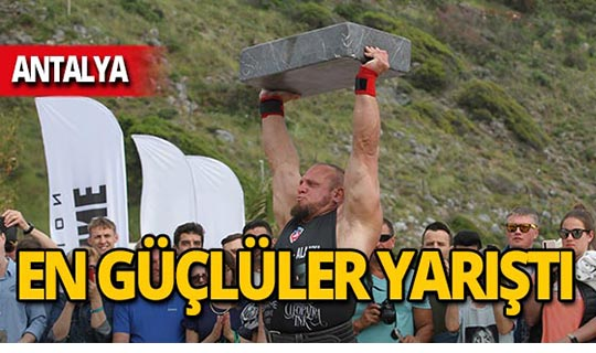 Dünyanın en güçlü sporcuları yarıştı!