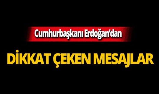 """Erdoğan: """"Omuz omuza olmamız gerekirken başka bir yana savrulduklarını görüyoruz"""""""