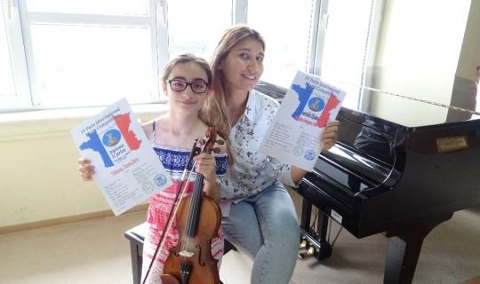 Konservatuvar öğrencisine Paris'te ikincilik ödülü