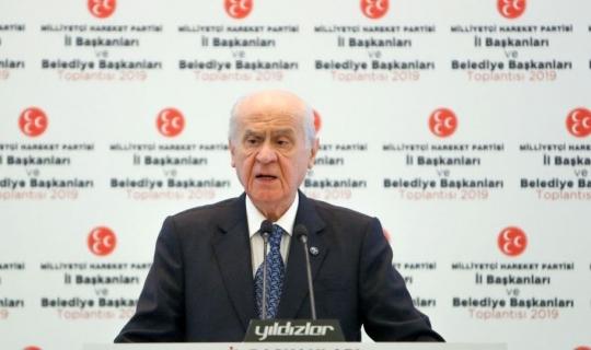 """MHP lideri Bahçeli: """"Antalya'da hainler cirit atacak"""""""