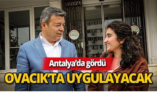 Türkiye'nin en genç kadın muhtarı Antalya'yı ziyaret etti