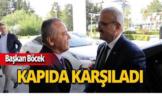 Vali Karaloğlu'ndan Başkan Böcek'e ziyaret!