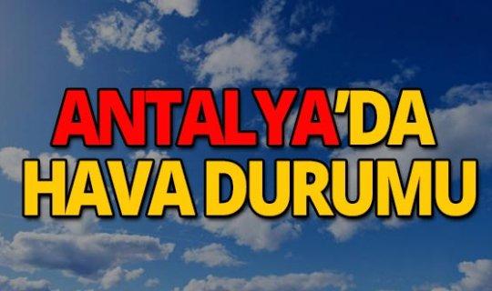 23 Mayıs 2019 Antalya hava durumu