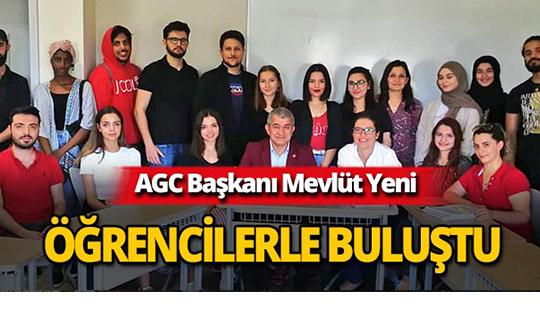 AGC Başkanı Yeni, öğrencilerle tecrübelerini paylaştı