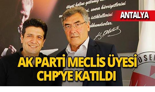 AK Parti Meclis Üyesi CHP'ye katıldı