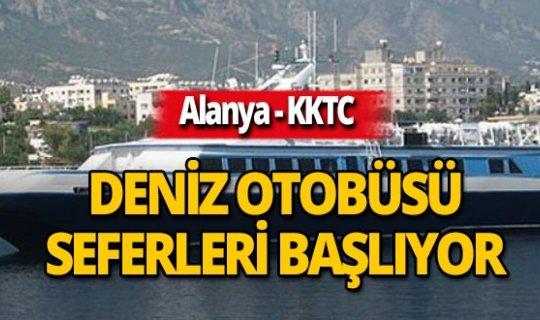 Alanya-KKTC deniz otobüsü seferleri başlıyor!