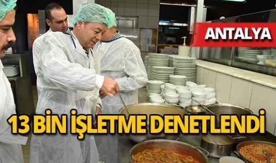 Antalya'da 13 bin işletmeye denetim yapıldı!