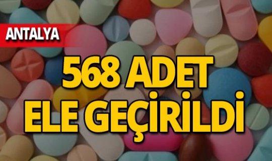 Antalya'da 568 adet ele geçirildi!