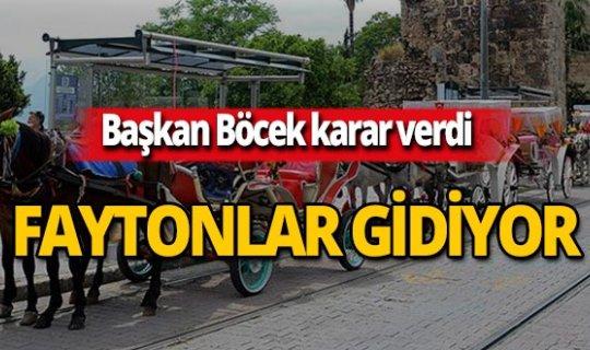 Antalya'da faytonlar kaldırılıyor!
