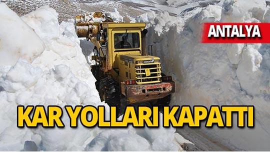 Antalya karla mücadele ediyor!