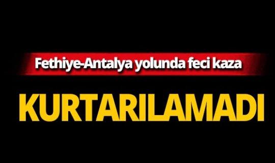 Antalya yolunda can verdi!