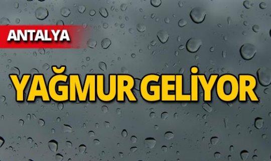 Antalyalılar dikkat! Sıcaklık düşüyor, yağmur geliyor!