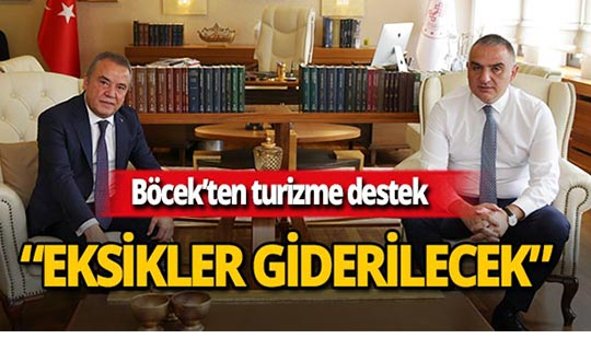 Başkan Böcek'ten Bakan Ersoy'a ziyaret!