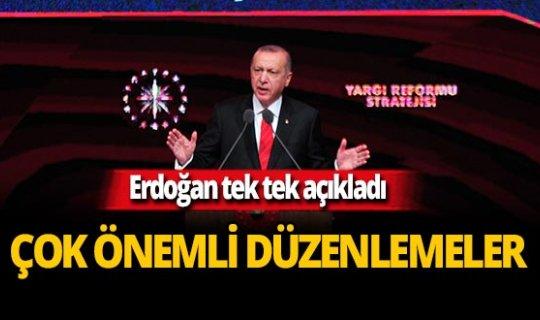 Cumhurbaşkanı Erdoğan Yargı Reformu Strateji Belgesi'ni açıkladı