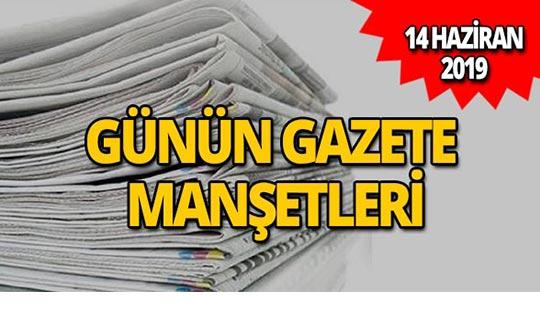 14 Haziran 2019 Antalya'nın yerel gazete manşetleri