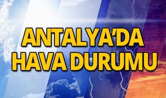 5 Haziran 2019 Antalya hava durumu