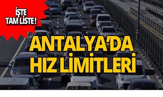 Antalya TEDES devreye giriyor, işte 2019 hız limitleri!