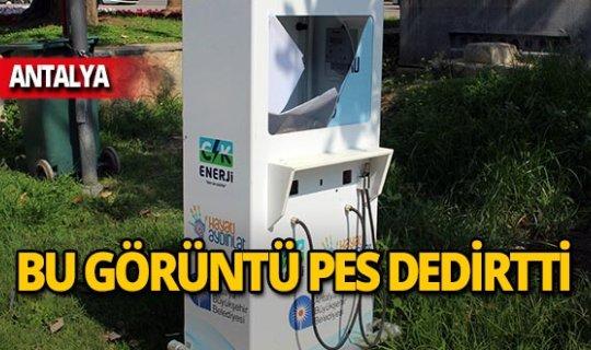 Antalya'da utanç verici görüntü!