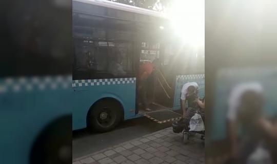 Antalya'da otobüs şoförünün engelleri aşan hareketi
