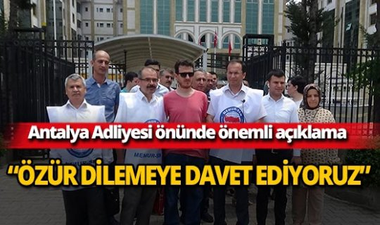 Büro Memur Sen Antalya Şubesinden önemli açıklama!