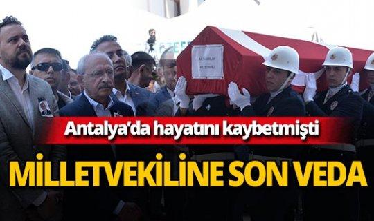 CHP Milletvekili son yolculuğuna uğurlandı!