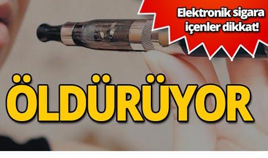 Elektronik sigara öldürüyor!
