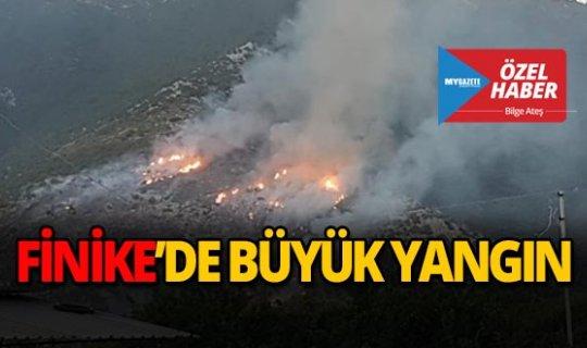 Finike'de büyük yangın!